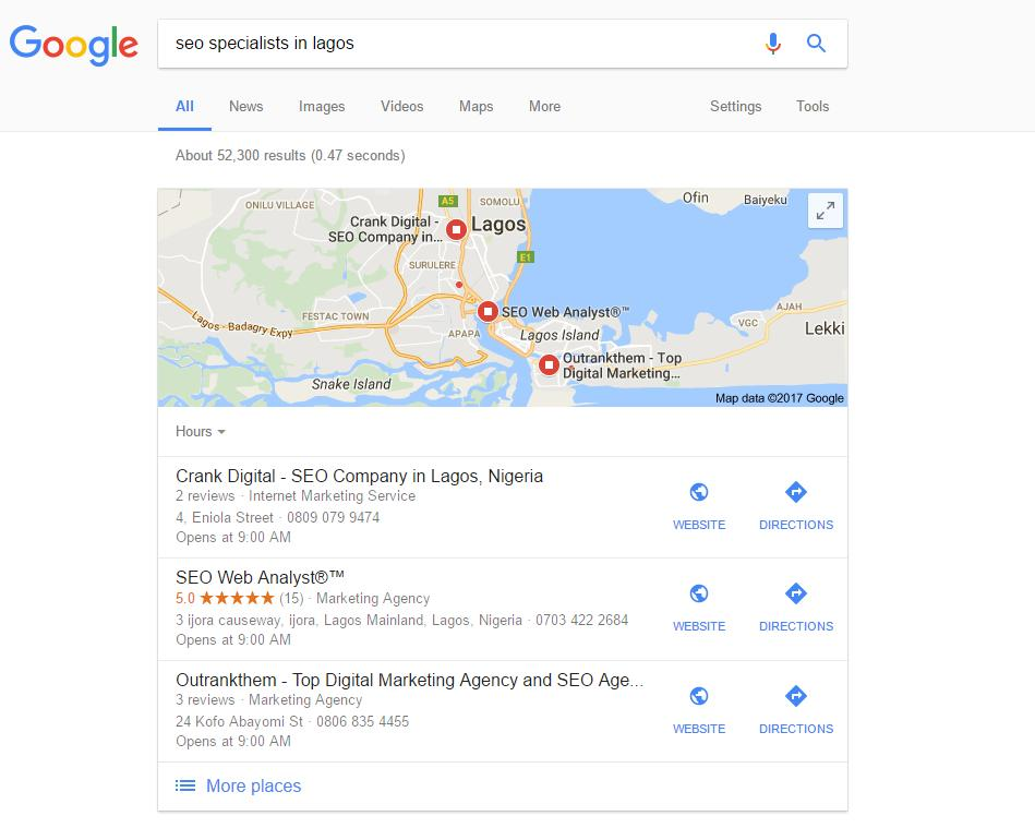google-map-keyword-ranking