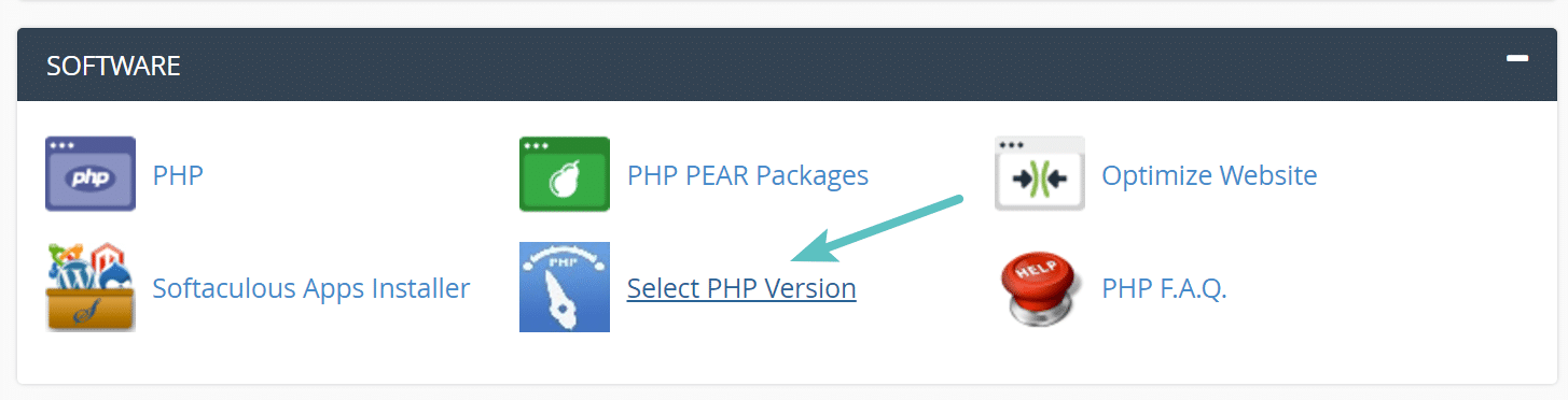 select-php-version